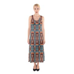 Squares Rectangles And Other Shapes Pattern Full Print Maxi Dress by LalyLauraFLM