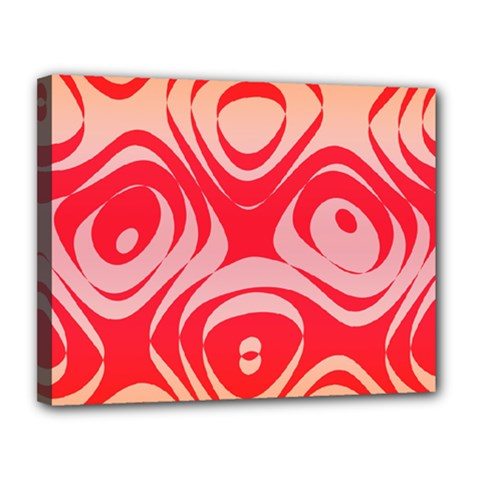 Gradient Shapes Canvas 14  X 11  (stretched) by LalyLauraFLM