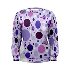 Purple Awareness Dots Women s Sweatshirt by FunWithFibro