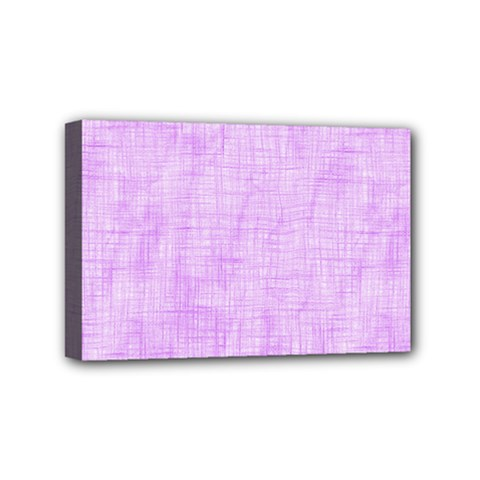 Hidden Pain In Purple Mini Canvas 6  X 4  (framed) by FunWithFibro