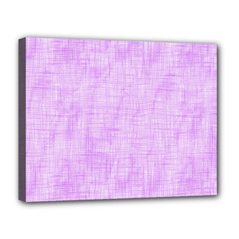 Hidden Pain In Purple Canvas 14  X 11  (framed) by FunWithFibro