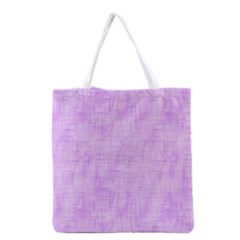 Hidden Pain In Purple Grocery Tote Bag by FunWithFibro