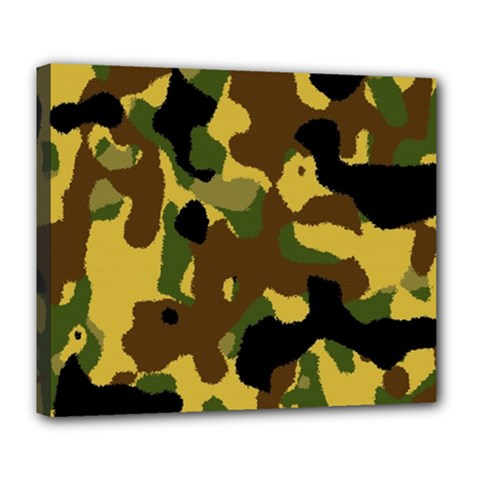 Camo Pattern  Deluxe Canvas 24  X 20  (framed) by Colorfulart23