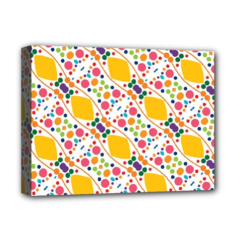 Dots And Rhombus Deluxe Canvas 16  X 12  (stretched)  by LalyLauraFLM