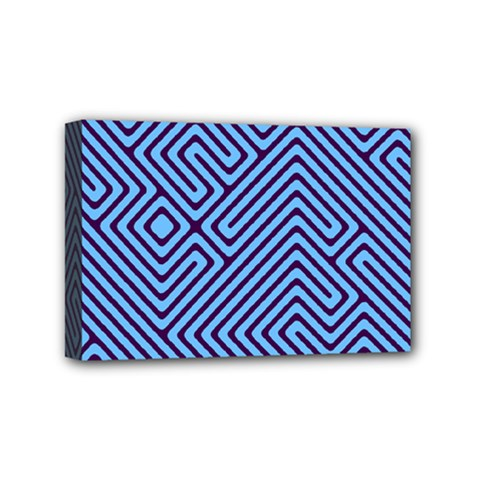Blue Maze Mini Canvas 6  X 4  (stretched) by LalyLauraFLM