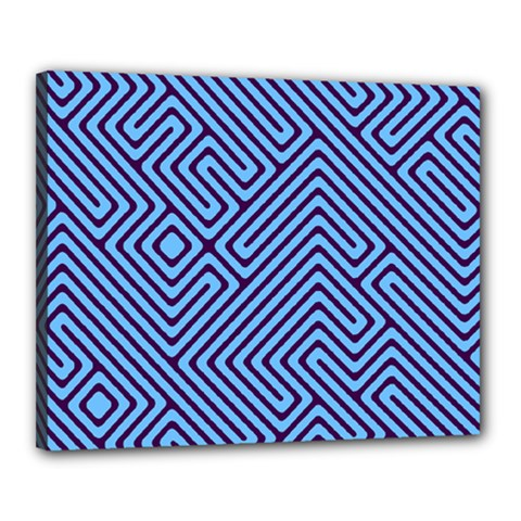 Blue maze Canvas 20  x 16  (Stretched) by LalyLauraFLM