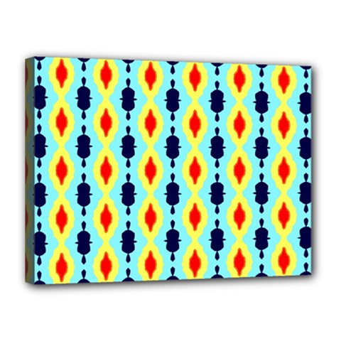 Yellow Chains Pattern Canvas 16  X 12  (stretched) by LalyLauraFLM