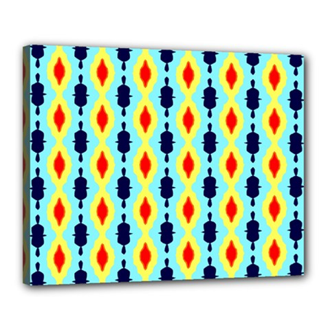 Yellow Chains Pattern Canvas 20  X 16  (stretched) by LalyLauraFLM