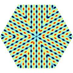 Yellow Chains Pattern Mini Folding Umbrella