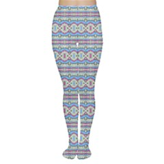 Aztec Style Pattern in Pastel Colors Tights by dflcprintsclothing