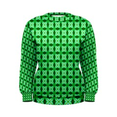 Green Abstract Tile Pattern Women s Sweatshirt by creativemom