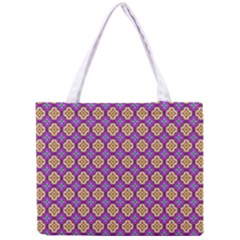 Purple Decorative Quatrefoil Tiny Tote Bag by creativemom