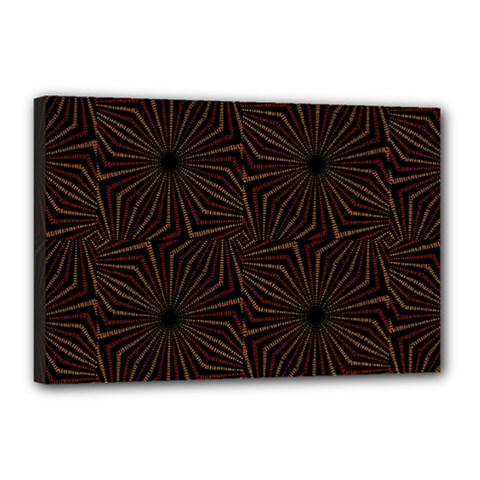 Tribal Geometric Vintage Pattern  Canvas 18  X 12  (framed) by dflcprints