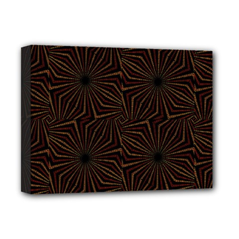 Tribal Geometric Vintage Pattern  Deluxe Canvas 16  X 12  (framed)  by dflcprints