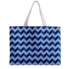 Tiffany Blue Modern Retro Chevron Patchwork Pattern Tiny Tote Bag by creativemom