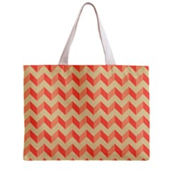 Modern Retro Chevron Patchwork Pattern Tiny Tote Bag by creativemom