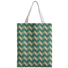Mint Modern Retro Chevron Patchwork Pattern Classic Tote Bag by creativemom