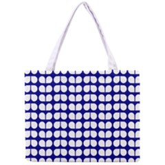 Blue And White Leaf Pattern Tiny Tote Bag by creativemom