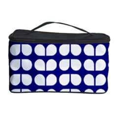 Blue And White Leaf Pattern Cosmetic Storage Case by creativemom