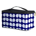 Blue And White Leaf Pattern Cosmetic Storage Case View3
