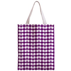 Purple And White Leaf Pattern Classic Tote Bag