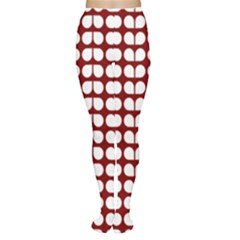 Red And White Leaf Pattern Tights by creativemom