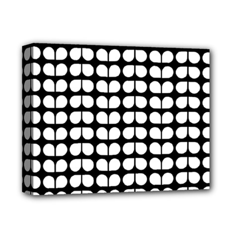 Black And White Leaf Pattern Deluxe Canvas 14  X 11  (framed) by creativemom