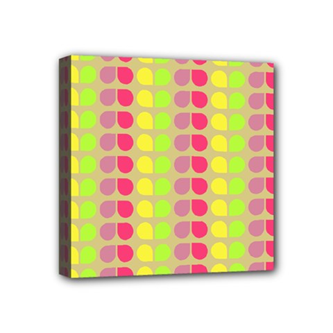 Colorful Leaf Pattern Mini Canvas 4  X 4  (framed) by creativemom