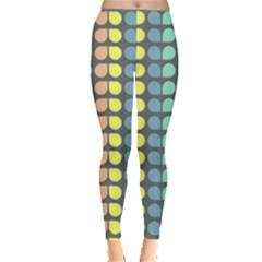 Colorful Leaf Pattern Leggings  by creativemom