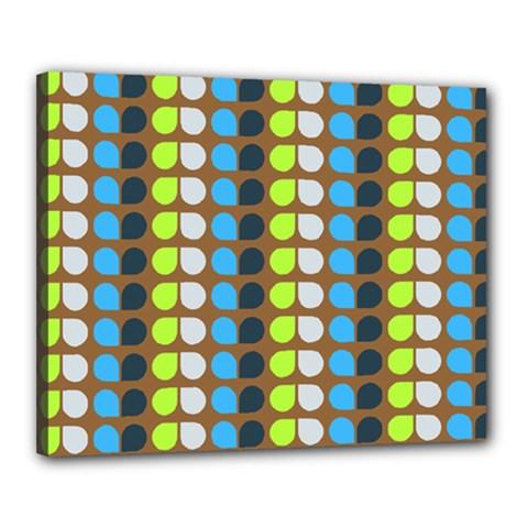 Colorful Leaf Pattern Canvas 20  X 16  (framed) by creativemom