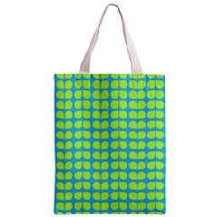 Blue Lime Leaf Pattern Classic Tote Bag