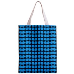 Blue Gray Leaf Pattern Classic Tote Bag by creativemom