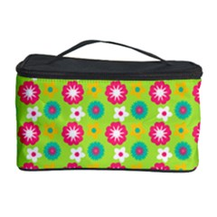Cute Floral Pattern Cosmetic Storage Case by creativemom
