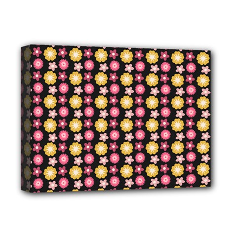 Cute Floral Pattern Deluxe Canvas 16  X 12  (framed)  by creativemom