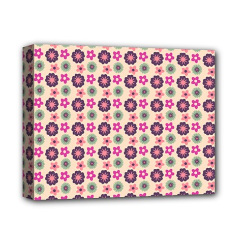 Cute Floral Pattern Deluxe Canvas 14  X 11  (framed) by creativemom