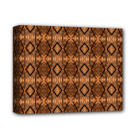 Faux Animal Print Pattern Deluxe Canvas 14  X 11  (framed)