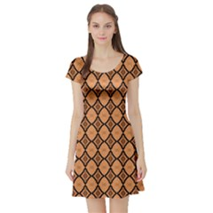 Faux Animal Print Pattern Short Sleeve Skater Dress by creativemom