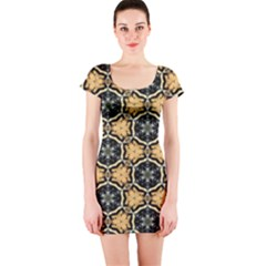 Faux Animal Print Pattern Short Sleeve Bodycon Dress by creativemom