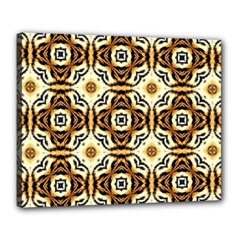 Faux Animal Print Pattern Canvas 20  x 16  (Framed) by creativemom