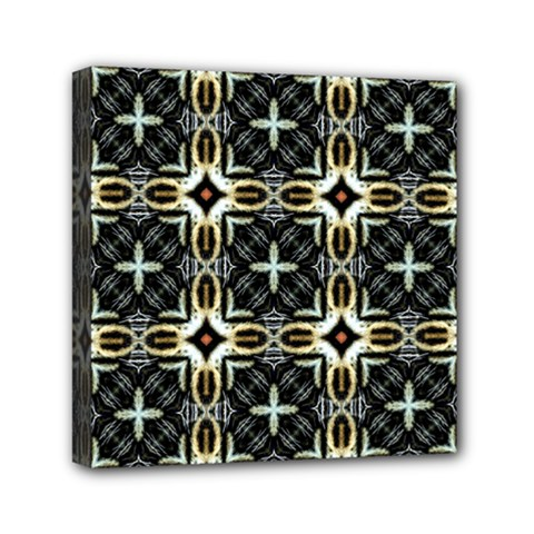 Faux Animal Print Pattern Mini Canvas 6  X 6  (framed) by creativemom