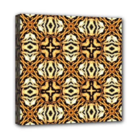 Faux Animal Print Pattern Mini Canvas 8  X 8  (framed) by creativemom