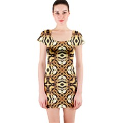 Faux Animal Print Pattern Short Sleeve Bodycon Dress by creativemom