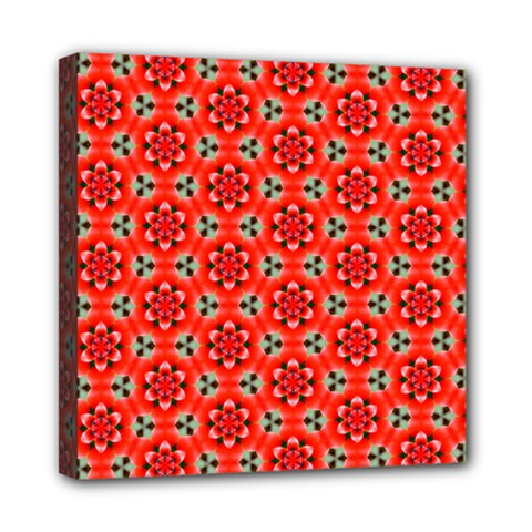 Cute Pretty Elegant Pattern Mini Canvas 8  X 8  (framed) by creativemom