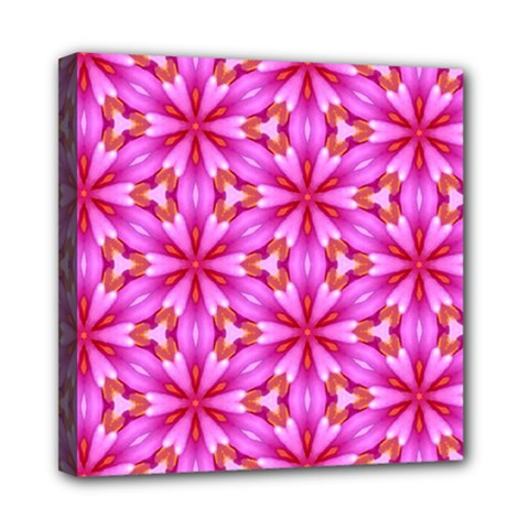 Cute Pretty Elegant Pattern Mini Canvas 8  X 8  (framed) by creativemom