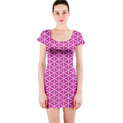 Cute Pretty Elegant Pattern Short Sleeve Bodycon Dress by creativemom