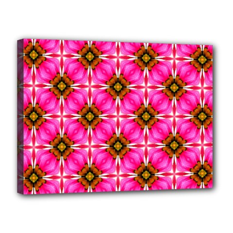 Cute Pretty Elegant Pattern Canvas 16  X 12  (framed) by creativemom