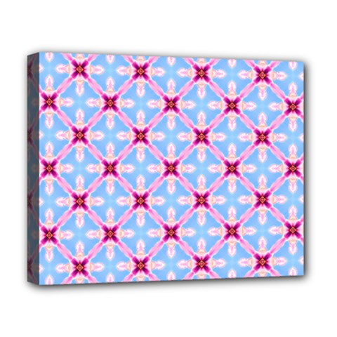 Cute Pretty Elegant Pattern Deluxe Canvas 20  X 16  (framed) by creativemom