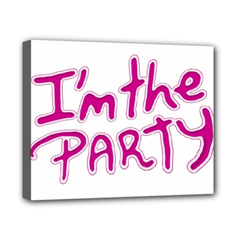 I Am The Party Typographic Design Quote Canvas 10  X 8  (framed) by dflcprints