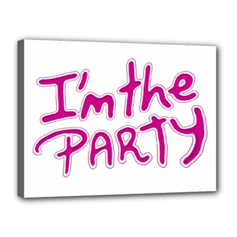 I Am The Party Typographic Design Quote Canvas 16  X 12  (framed) by dflcprints