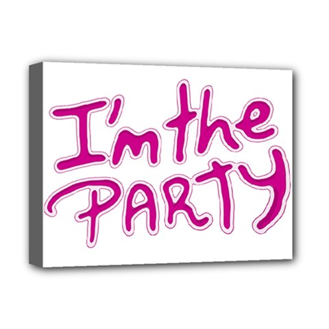 I Am The Party Typographic Design Quote Deluxe Canvas 16  X 12  (framed)  by dflcprints